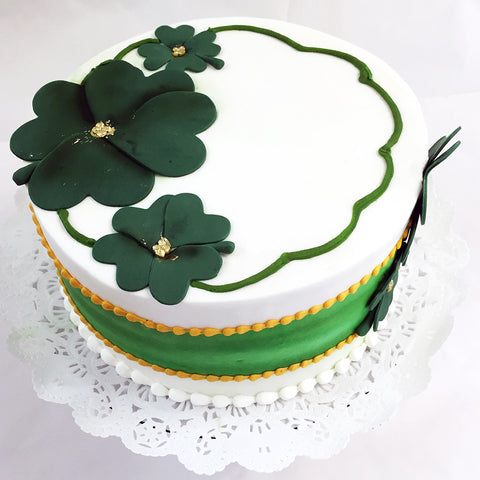 Shamrock Band of Green Cake
