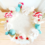 Snowflakes and Candy Canes Cake