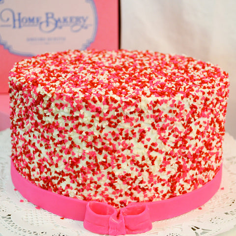 Confetti Hearts Cake - The Home Bakery