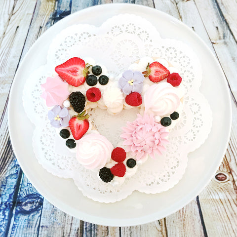 Cookie Cake - Heart with Fruit