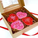 Heart Cookies - Sugar Decorated - Gift Packaged
