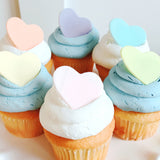 Pastel Heart Cupcakes