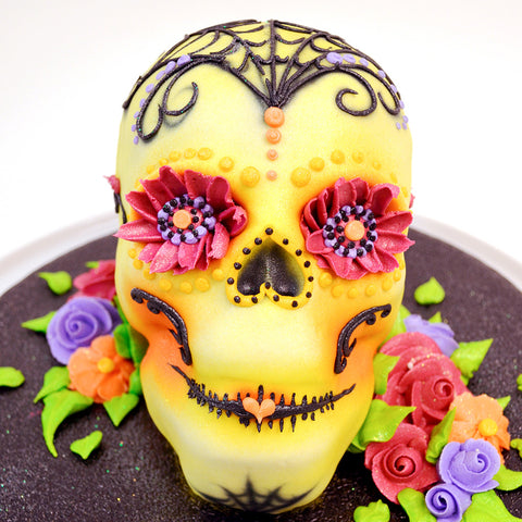 Day of the Dead Skull Cake