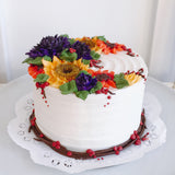 Ellery Cake - Fall Florals in Jewel Tones