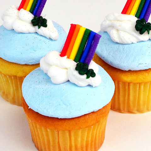 End of the Rainbow Cupcakes (Set/6) - The Home Bakery