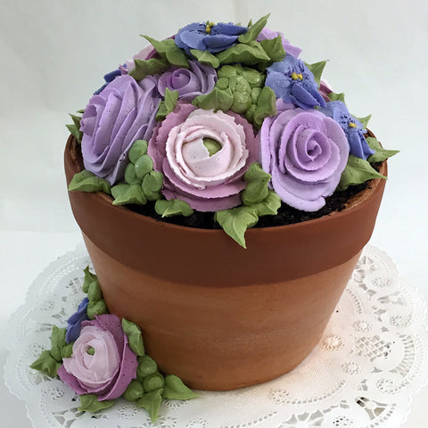 Flower Pot Cake - The Home Bakery
