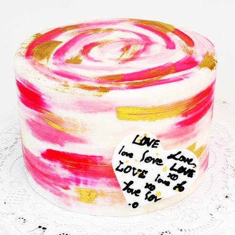 Colours of Love Cake - The Home Bakery