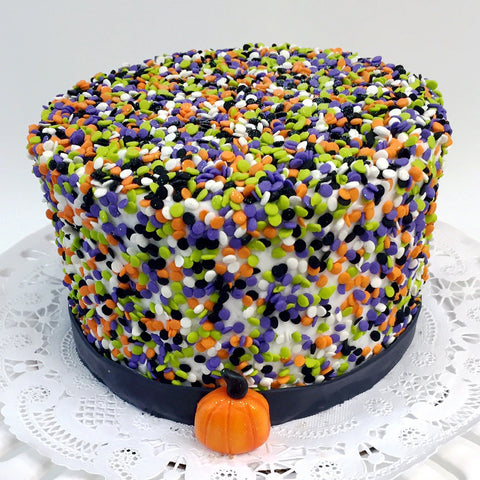 Halloween Confetti Cake - The Home Bakery