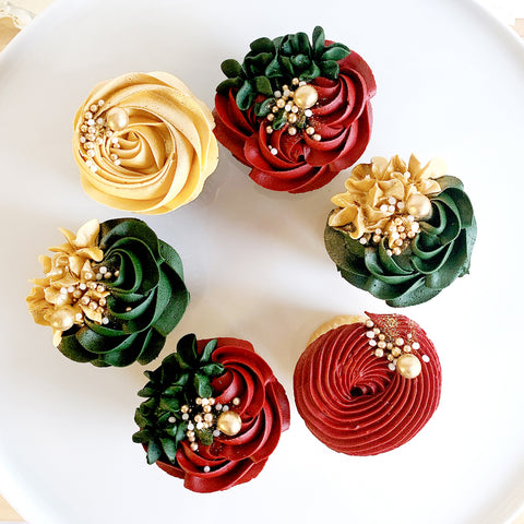 Holiday Luxe Cupcakes