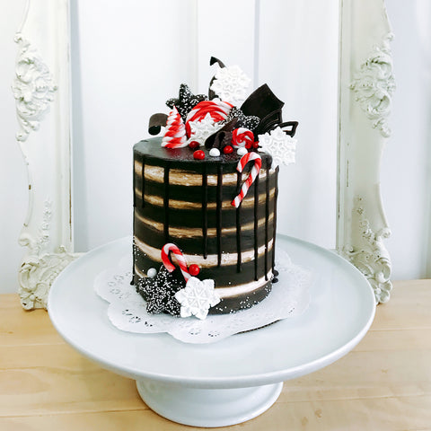 Overloaded Holiday Cake