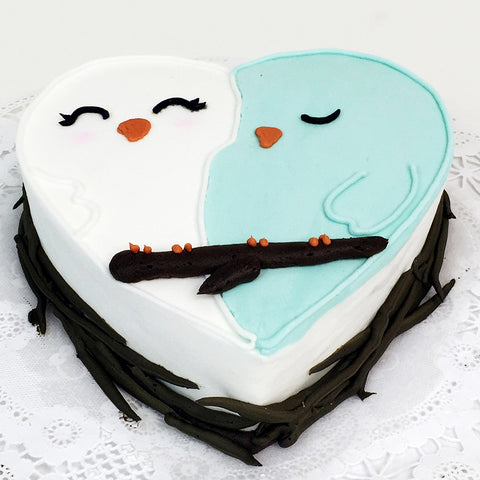 Love Birds Cake - The Home Bakery