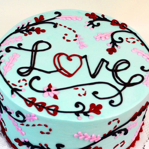 Embroidered with Love Cake - The Home Bakery
