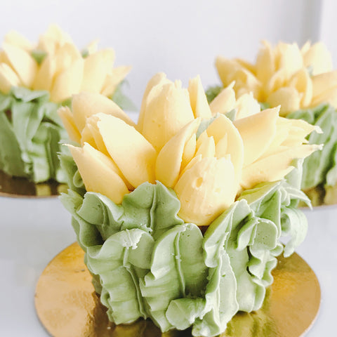 May Flowers Cupcake - Yellow