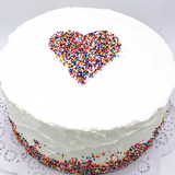 Pointillism Heart Cake - Multicolored