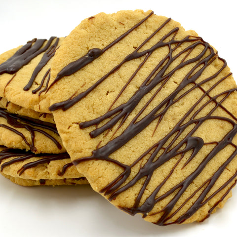 Peanut Butter Cookie with Chocolate Drizzle