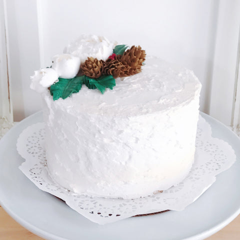 Peonies and Pinecones Cake