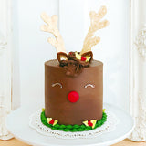Red-Nosed Reindeer Cake