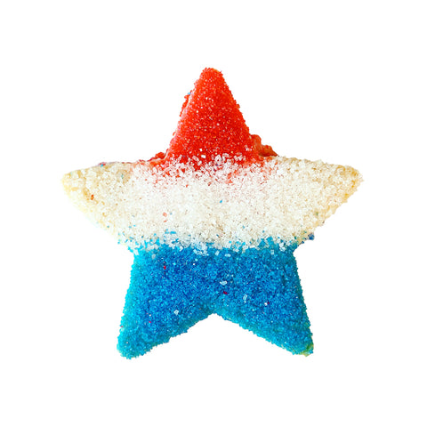 Red, White, & Blue Star Cookie