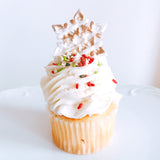 Holiday Snowflake Cupcake