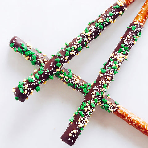 Chocolate-Covered Pretzel - St. Patrick's Day Confetti