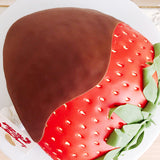 Chocolate Covered Strawberry Cake