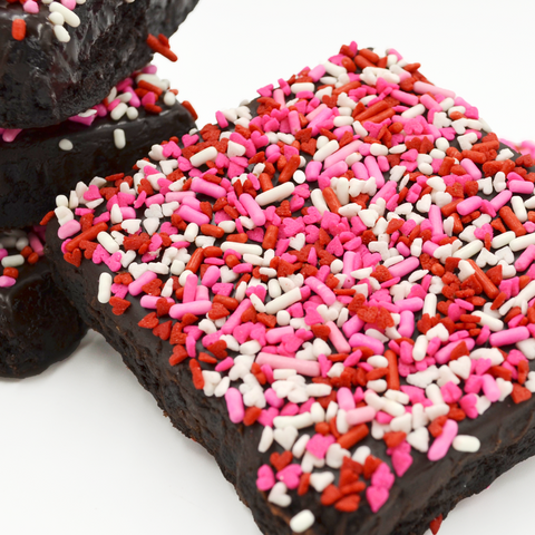 Valentine's Sprinkle Brownie