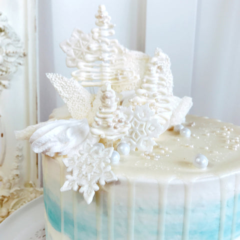 Overloaded Winter Wonderland Cake
