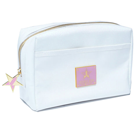 WHITE GLITTER TRAVEL BAG