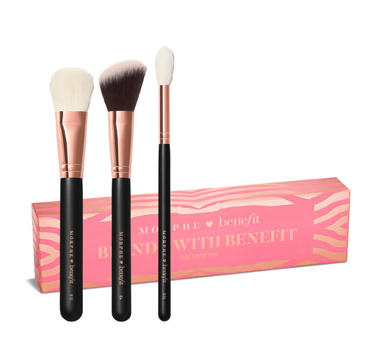 BLENDS WITH BENEFIT FACE BRUSH TRIO