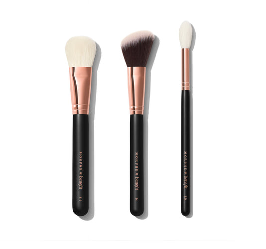 BLENDS WITH BENEFIT FACE BRUSH TRIO BRUSHES