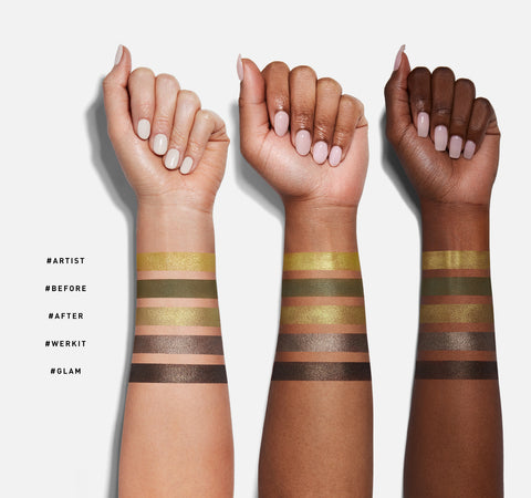 15T YOUR TRUE SELFIE ARTISTRY PALETTE ARM SWATCHES