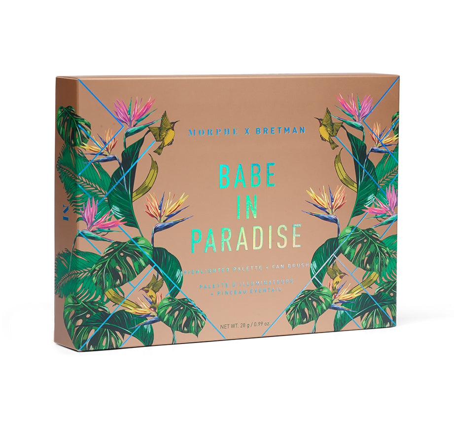 BRETMAN'S BABE IN PARADISE HIGHLIGHTER PALETTE PACKAGING, view larger image