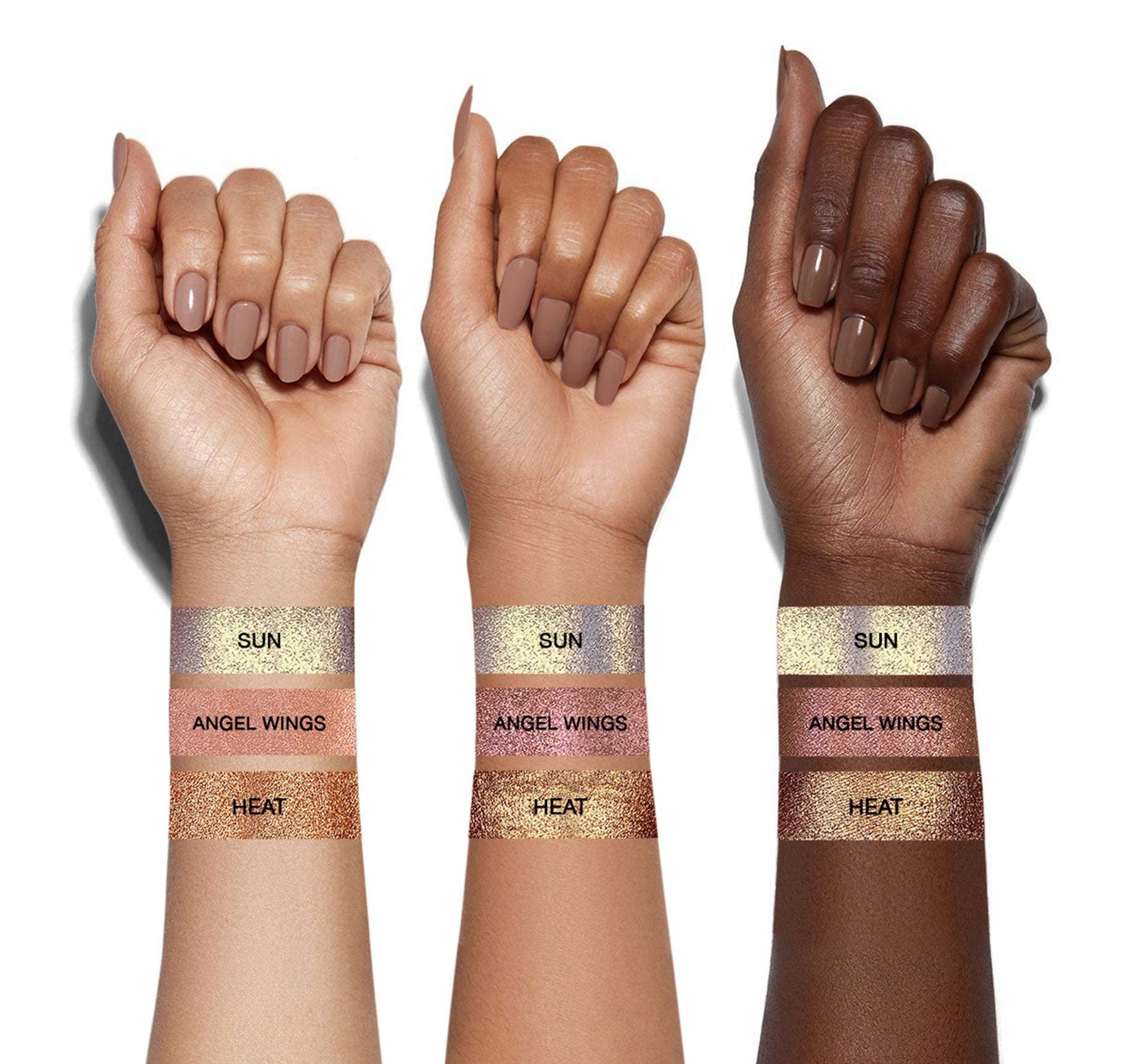 ENLIGHT HALO POWDER - ANGEL WINGS ARM SWATCHES, view larger image