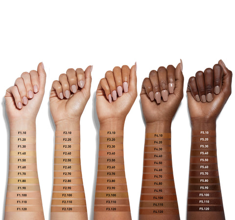 FLUIDITY FULL-COVERAGE FOUNDATION - F1.90 ARM SWATCHES