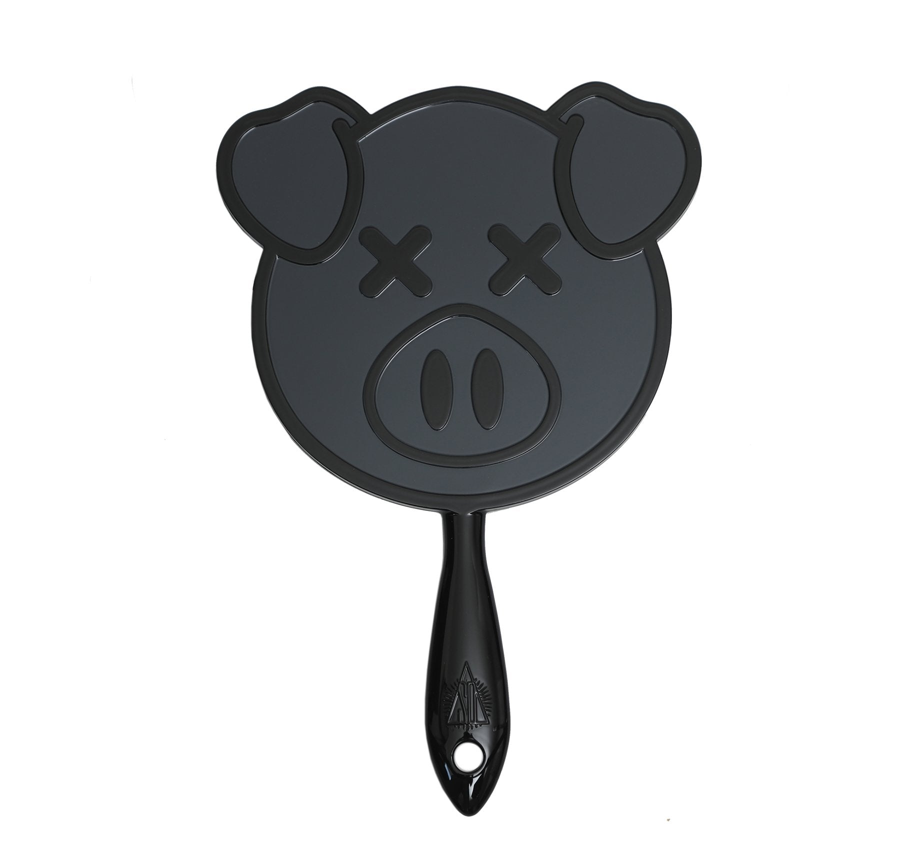 PIG HAND MIRROR - BLACK, view larger image