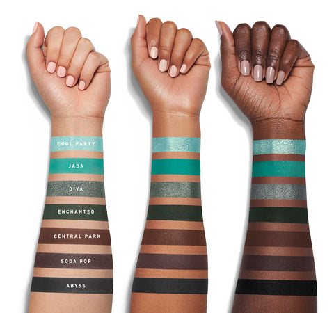 JACLYN HILL EYESHADOW PALETTE SWATCHES