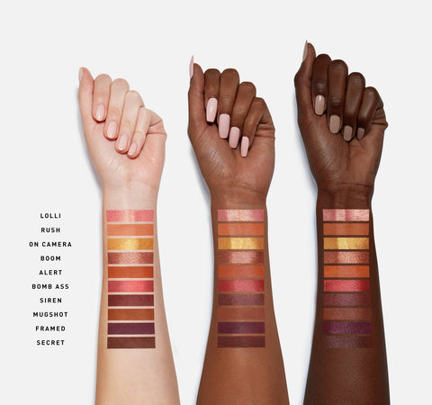 RING THE ALARM EYESHADOW PALETTE ARM SWATCHES