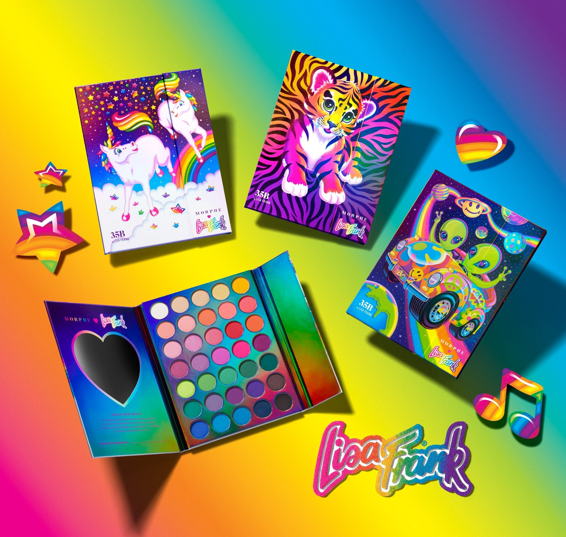 Morphe X Lisa Frank 35b By Lisa Frank Artistry Palette Forrest 🌈 link in bio ✨ #giveaway 3 lucky #morphebabes will win the entire morphe @lisafrank collection + pr box! morphe x lisa frank 35b by lisa frank artistry palette forrest