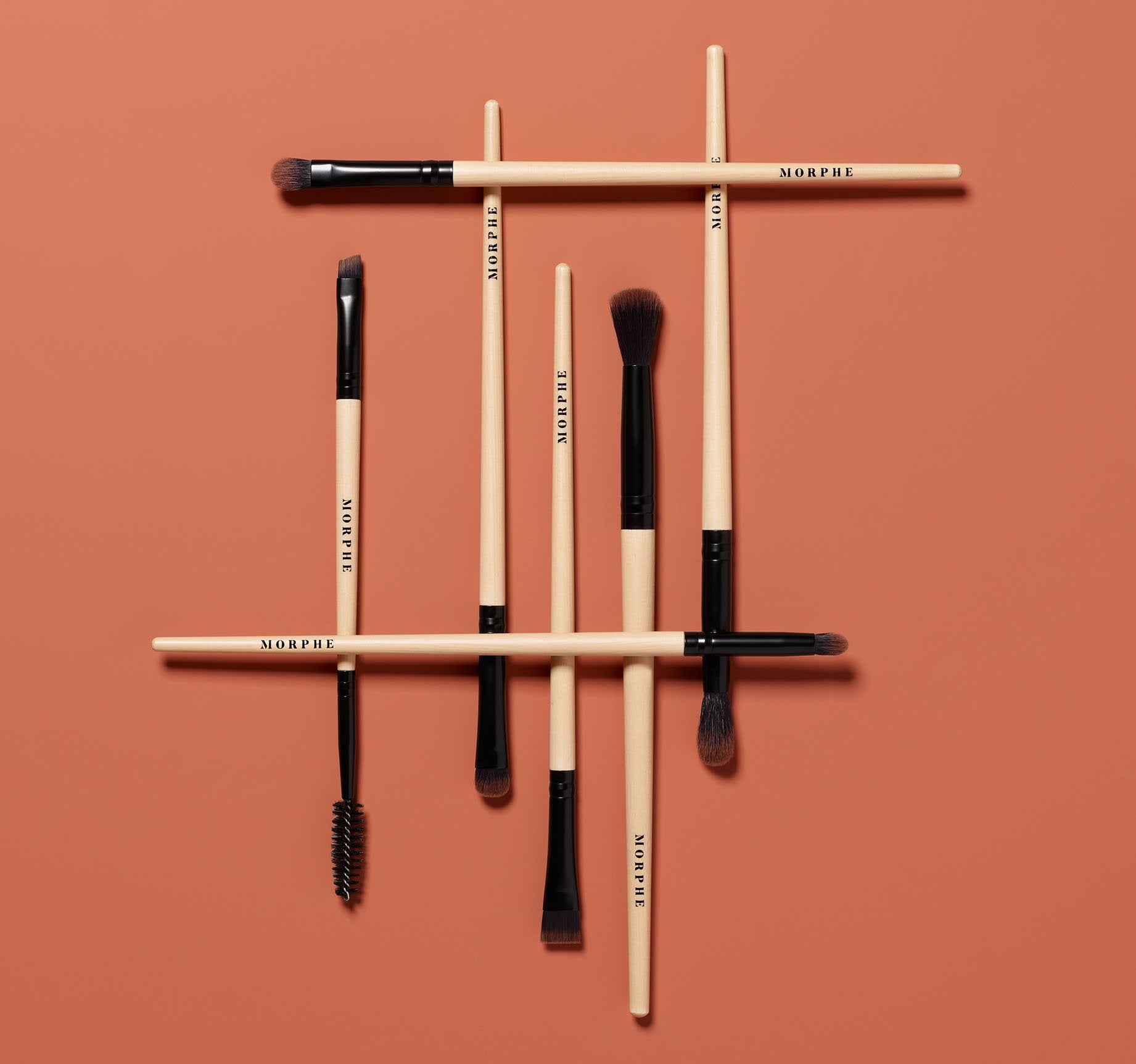 EARTH TO BABE 7-PIECE BAMBOO EYE BRUSH SET, view larger image