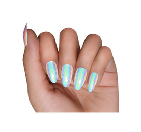 OPAL IRIDESCENT NAIL SET ON MODEL