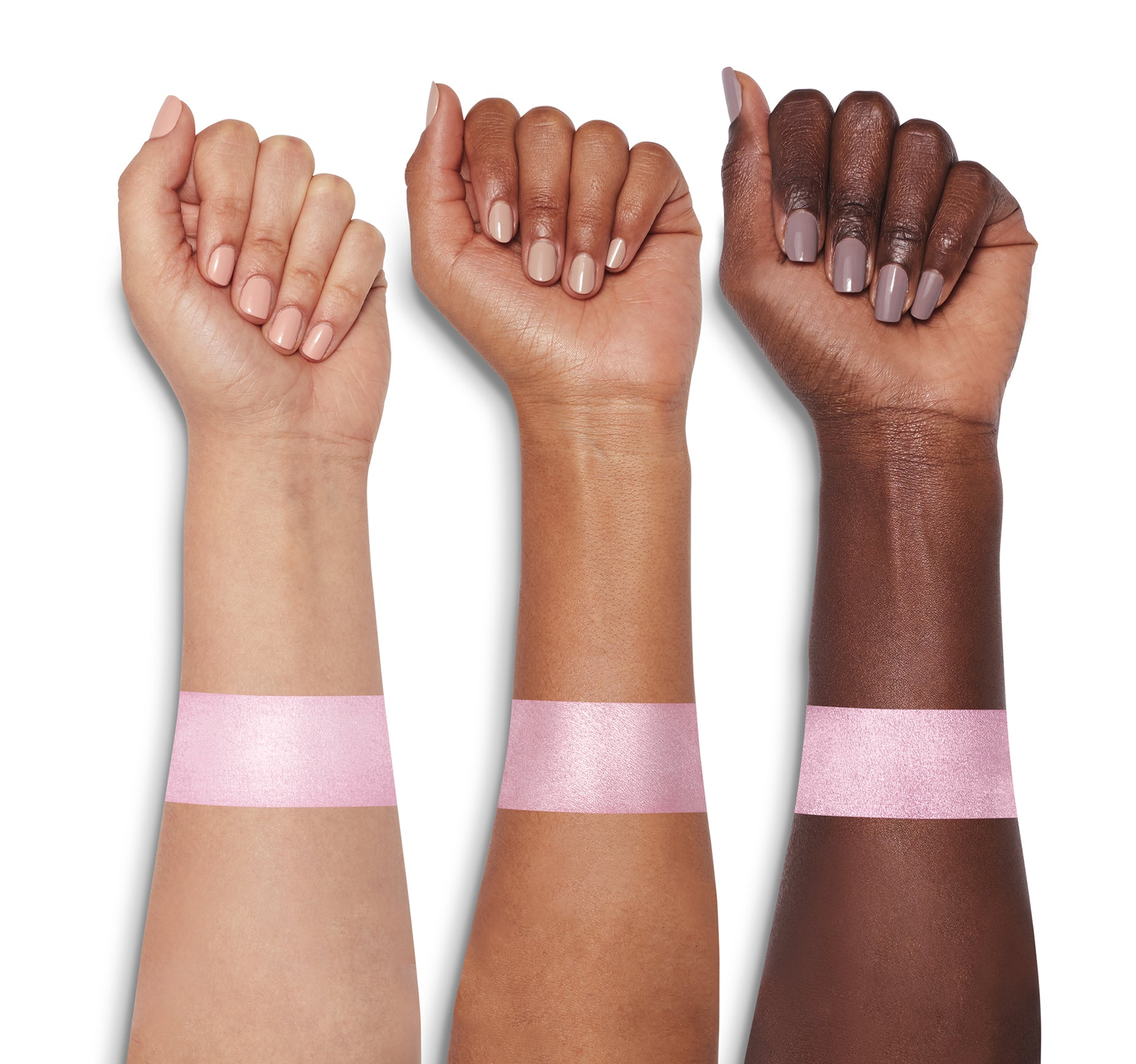 MORPHE X DEYSI DANGER HIGHLIGHTER ARM SWATCHES, view larger image