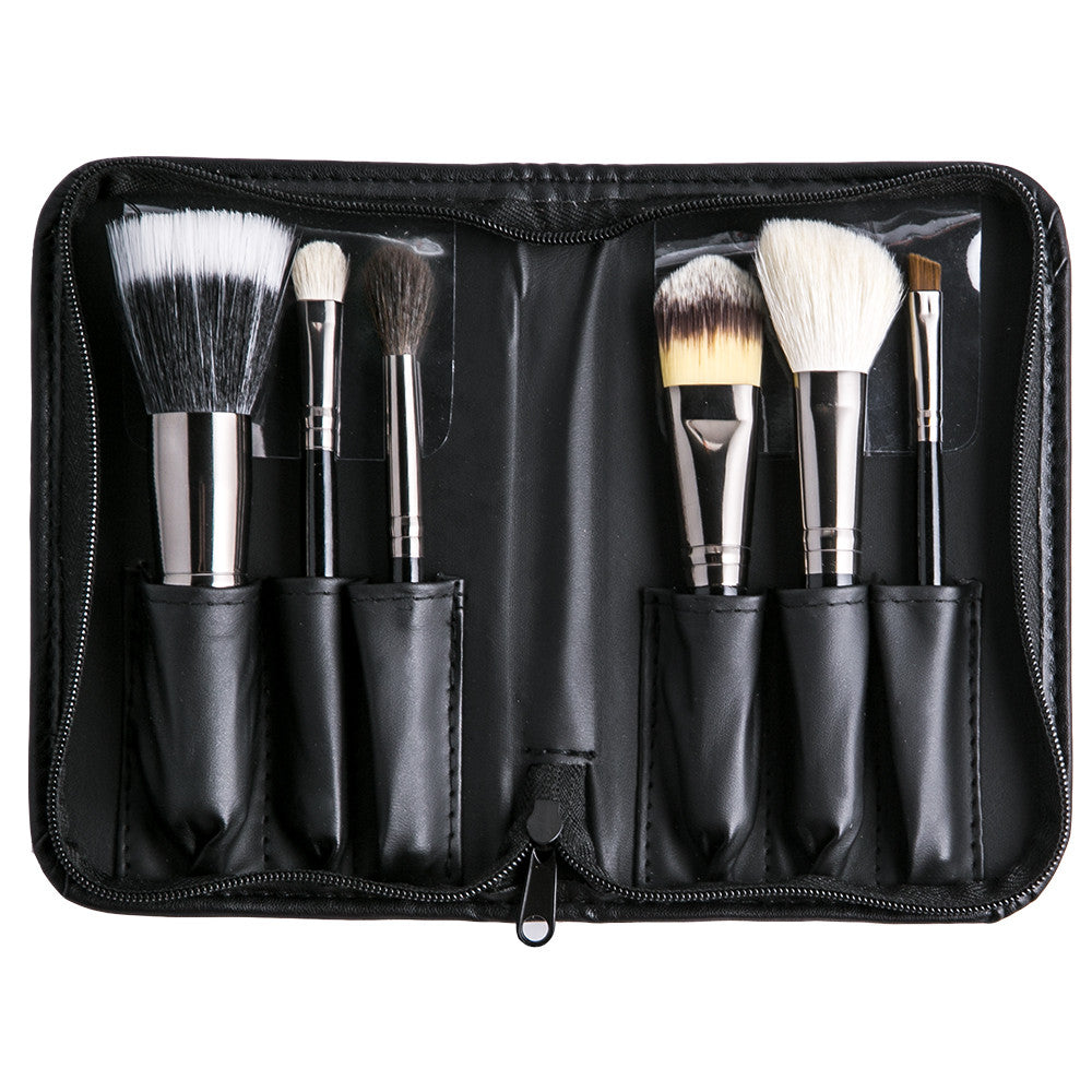 Brush Sets Morphe Us 36 Pcs Professional Cosmetic Facial Wood Make Up Makeup Brushes Tools Kit Set With Black Leather Case 685 6 Piece Travel