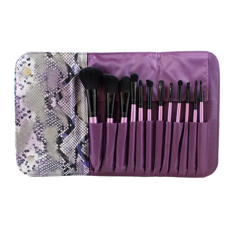 SET 693 - 12 PIECE PURPLE SET W/ SNAKESKIN CASE