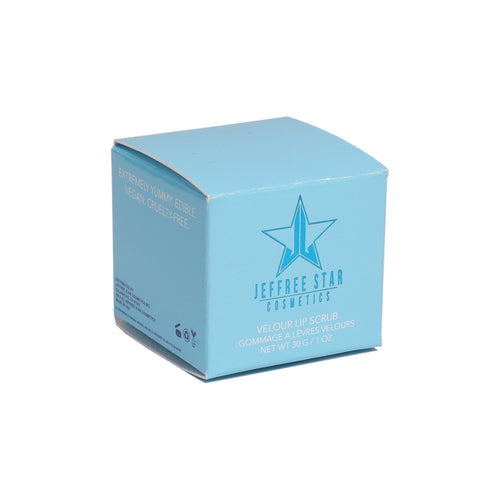 VELOUR LIP SCRUB - BLUE FREEZE PACKAGING