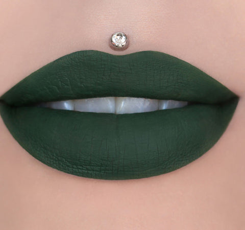 VELOUR LIQUID LIPSTICK - CROCODILE TEARS ON MODEL