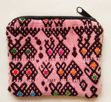 Handwoven Upcycled Huipil Small Zip Pouch/Coin Purse - Guatemala