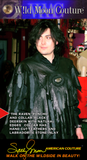 """Raven"" - Leather Couture black deerskin poncho and collar"