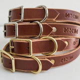 Classic Leather Collar - Cognac