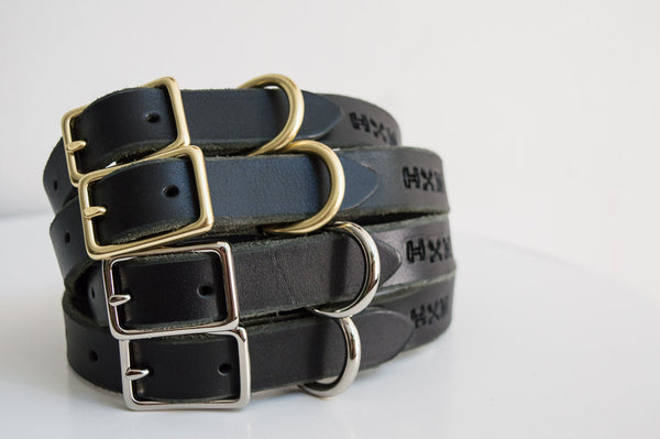 Classic Leather Collar - Black