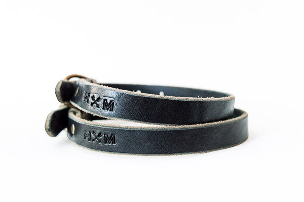 Braided Leather Collar - Black